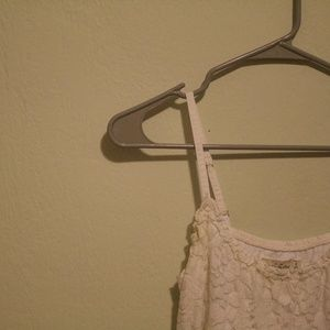abercrombie & fitch / floral lace top / white
